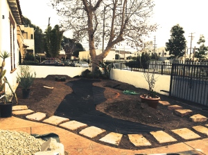 Landscaping Marked on Ground