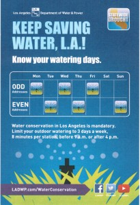 Los Angeles watering day rules