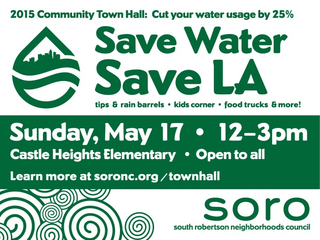 Save Water Yard Sign